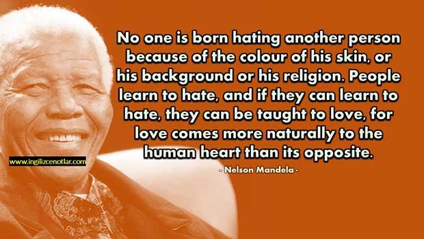 İngilizce-Nelson-Mandela-Hiç-kimse-başka-birinin-derisinin-renginden
