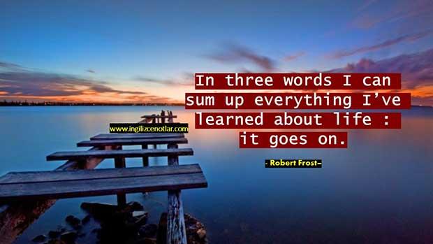 İngilizce-Robert-Frost-Hayat-ile-ilgili-öğrendiğim-her-şeyi-üç-kelime