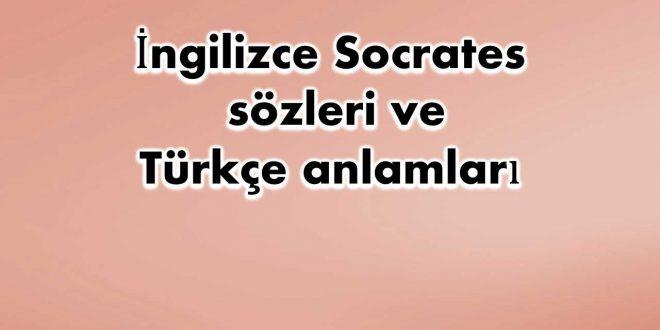 İngilizce-Socrates-sözleri