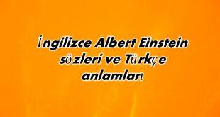İngilizce Albert Einstein sözler