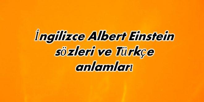 İngilizce Albert Einstein sözleri