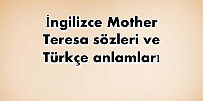 İngilizce-Mother-Teresa-sözleri