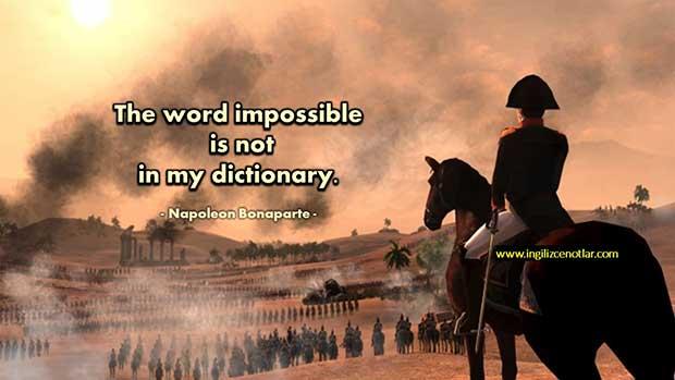 İngilizce-Napoleon-Bonaparte-İmkansız-sözcüğü-benim-sözlüğümde