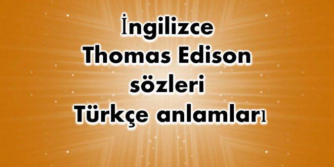 İngilizce-Thomas-Edison-sözleri