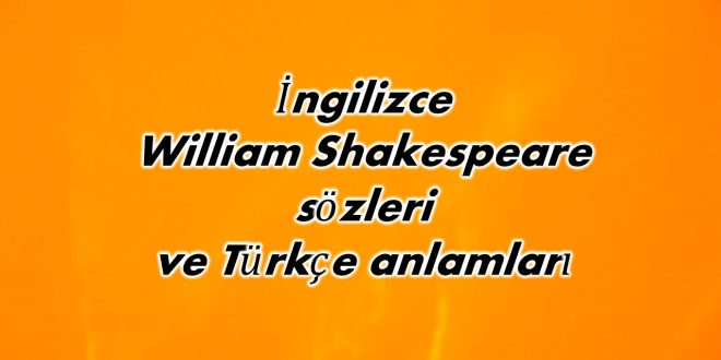 İngilizce William Shakespeare s