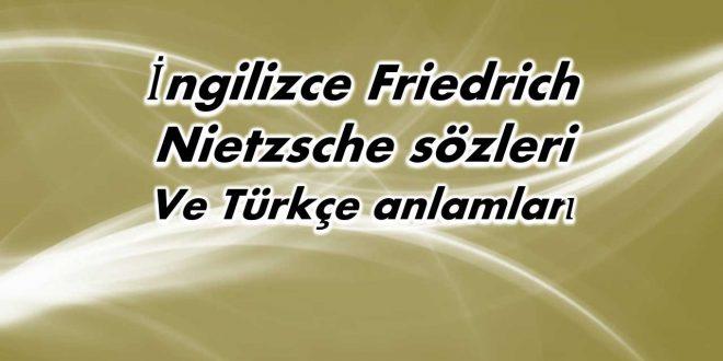 İngilizce-Friedrich-Nietzsche-sözleri