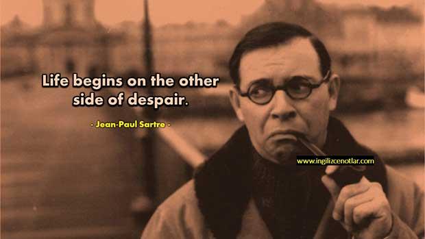 İngilizce-Jean-Paul-Sartre-Hayat-umutsuzluğun-diğer-tarafında
