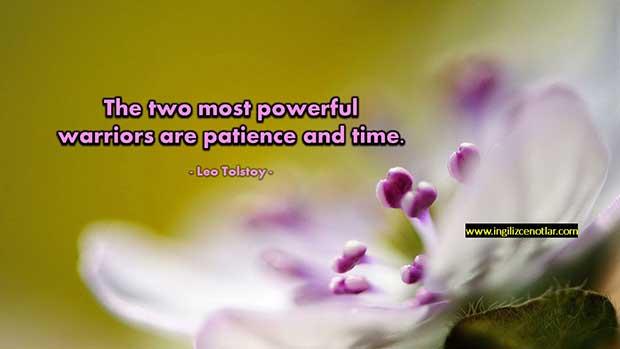 İngilizce-Leo-Tolstoy-En-güçlü-iki-savaşçı-sabır-ve-zamandır