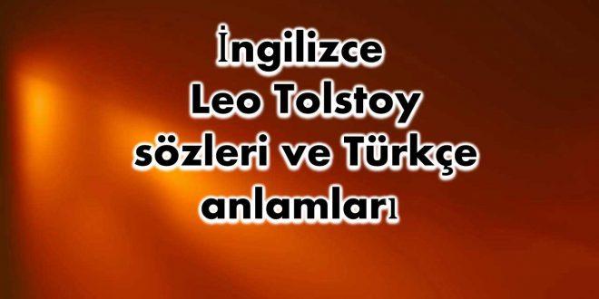 İngilizce-Leo-Tolstoy-sözleri