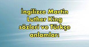 İngilizce-Martin-Luther-King-sözleri