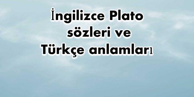 İngilizce-Plato-sözleri