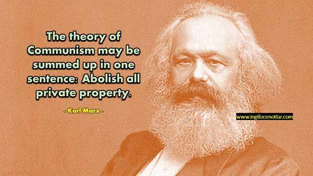 Ingilizce-Karl-Marx-Komünizm-teorisi-bir-cümle-ile-özetlenebilir