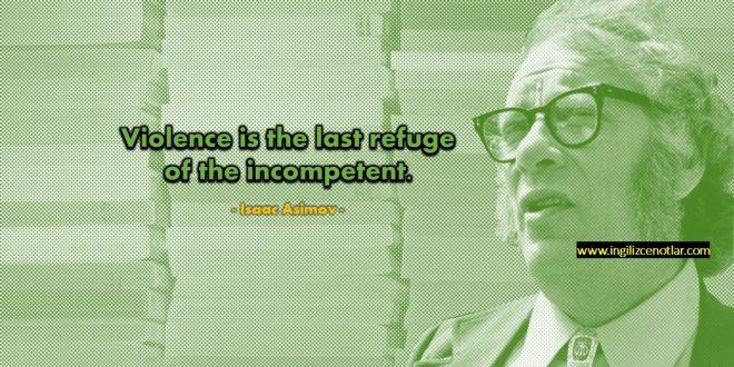 Isaac Asimov - Şiddet,