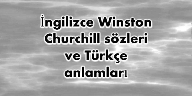 İngilizce-Winston-Churchill-sözleri