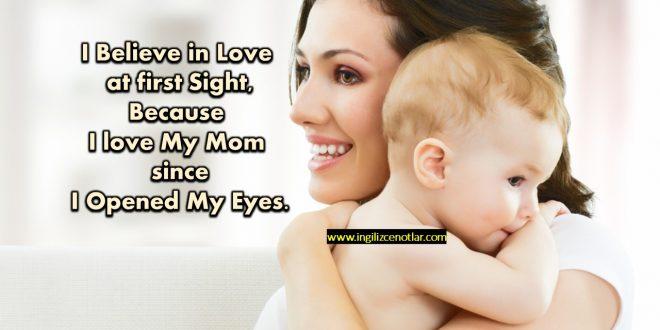 İlk görüşte aşka inanıyorum. Çünkü gözlerimi açtığımdan ...