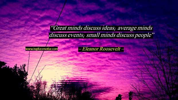 İngilizce-Eleanor-Roosevelt-Büyük-beyinler-fikirleri
