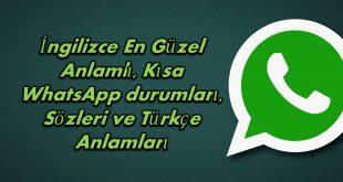 İngilizce whatsapp durumlari