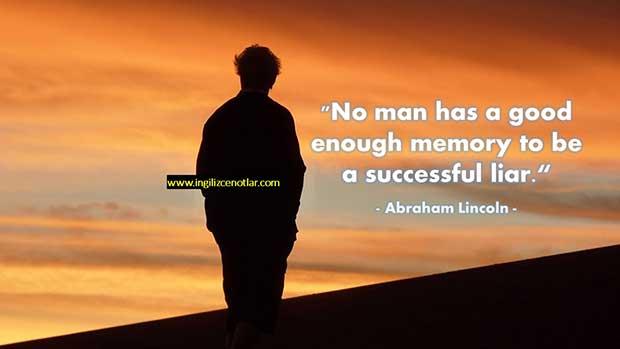 İngilizce-Abraham-Lincoln-Hiçbir-erkek-yalancı-olmak-için