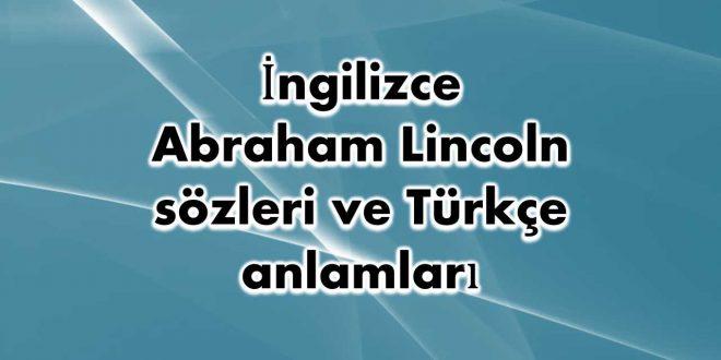 İngilizce-Abraham-Lincoln-sözleri