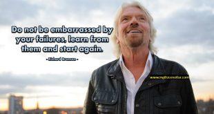 Richard Branson - Başarısızlığınızdan utanmayın, onlardan...
