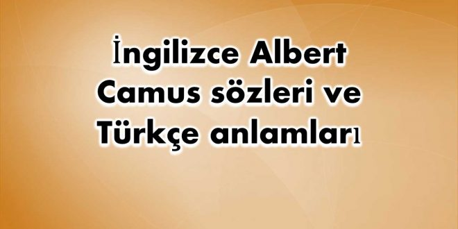 İngilizce-Albert-Camus-sözleri