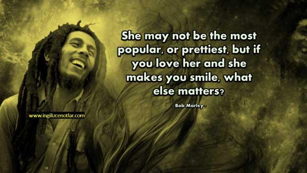 ingilizce-Bob Marley Aşk Sözleri