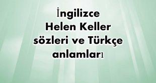 İngilizce-Helen-Keller-sözleri