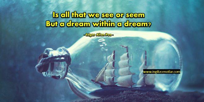 Edgar Allan Poe - Yoksa rüya içinde bir rüya mı...