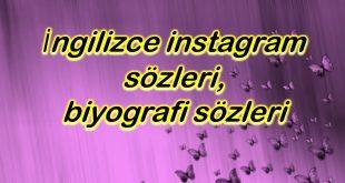 İngilizce instagram sözleri, biyografi sözleri