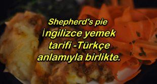 İngilizce yemek tarifi