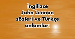İngilizce-John-Lennon-sözleri